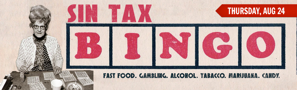 Sin Tax Bingo August 2017
